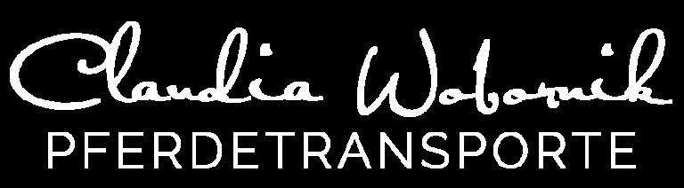 Claudia Wobornik Logo weiss