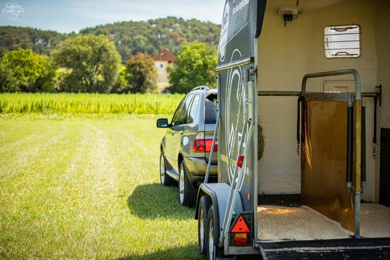 Anhängergespann Pferdetransporte